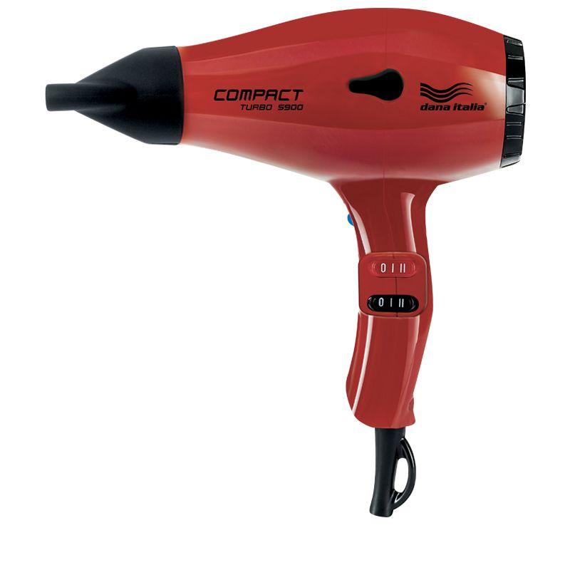 Asciugacapelli_compact turbo 5900 rosso_Dana_Italia